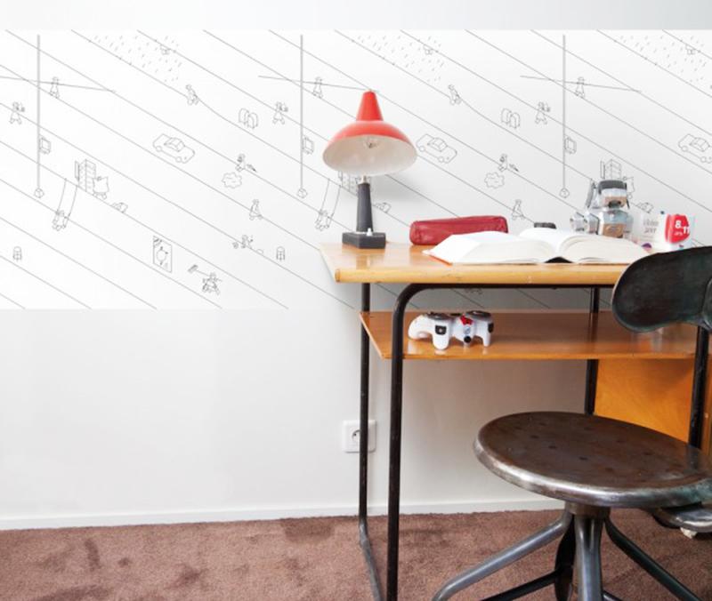papier-peint-chambre-enfant-sur-le-fil-tmotw
