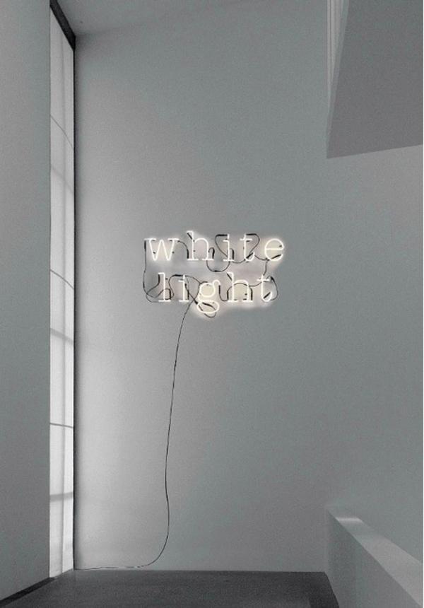 white light neon
